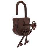 Rust Cast Iron Lock With Keys