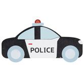 Police Cruiser Painted Wood Shape