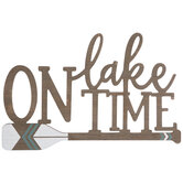 On Lake Time Wood Wall Decor