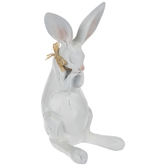 Distressed White Resting Bunny