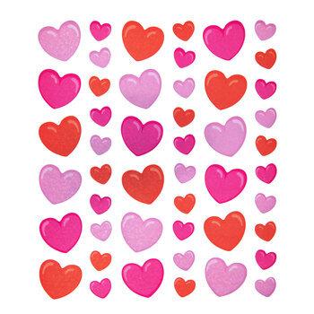 Valentine Heart Holographic Stickers