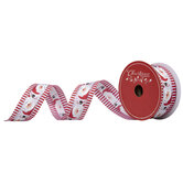 "Santa Claus Striped Wired Edge Ribbon - 1 1/2"""