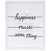 Happiness & Music Wood Wall Decor