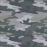 Green & Gray Camouflage Cotton Apparel Fabric