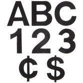 """Black Adhesive Felt Letters & Numbers - 2"""""""