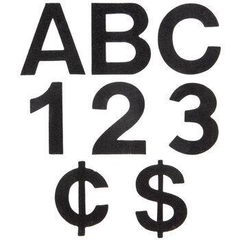 """Adhesive Felt Letters & Numbers - 2"""""""