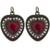 Red Heart Rhinestone Charms