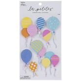 Glitter Balloons 3D Stickers