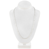 """Sterling Silver Plated Fancy Ball Chain Necklace - 24"""""""