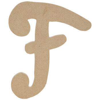 "Uppercase Script Wood Letter F - 6"""