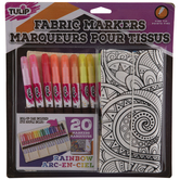 Fabric Markers With Roll Up Case - 20 Piece Set