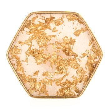 Gold Flake Hexagonal Knob