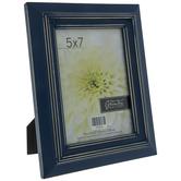 "Blue Distressed Wood Frame - 5"" x 7"""