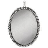 Oval Ornate Bezel - 38mm x 27mm