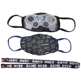 Gaming Kids Face Masks & Lanyard