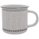 White & Pink Chevrons Mug