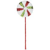 Peppermint Candy Glitter Pick