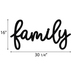 Black Family Metal Wall Decor