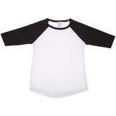 Black & White Toddler Baseball Shirt - 4T