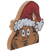 Max & Santa Hat The Grinch Wood Decor