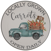 Locally Grown Carrots & Vintage Truck Plate