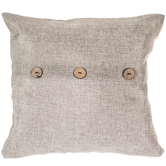 Gray Pillow Cover With Buttons