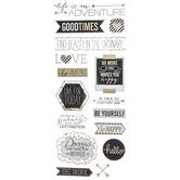 Inspirational Phrases Gold Foil Stickers