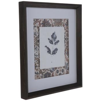 Leaf Imprint Framed Wall Decor