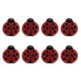 Ladybug Glitter Shank Buttons