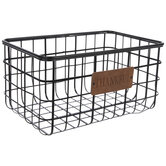Thankful Rectangle Wire Metal Basket