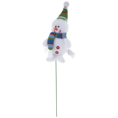 Snowman In Green Hat Pick
