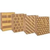 Kraft & Gold Foil Gift Bags