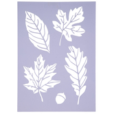 Assorted Leaves Stencil