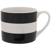 White & Black Striped Mug