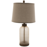 Champagne Textured Glass Lamp