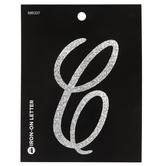 "Glitter Letter Iron-On Applique C - 3 1/2"""