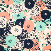 Garden Blooms Gauze Fabric