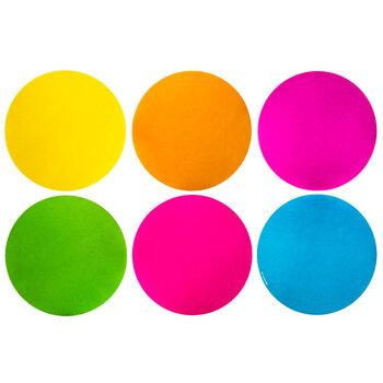 Neon Dots Paper Cutouts