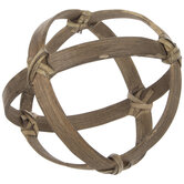 Brown Bamboo Strip Decorative Sphere