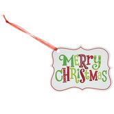 Merry Christmas Shield Gift Tags