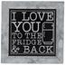 Fridge & Back Metal Decor