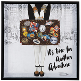 Adventure Suitcase Canvas Wall Decor