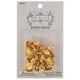 "Shiny Gold Round Brads - 15/32"""
