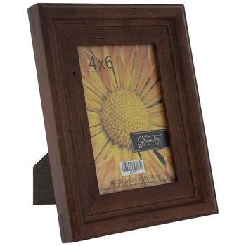 Walnut Distressed Wood Frame