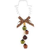 Pilgrim With Bells Metal Door Hanger