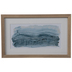 Abstract Blue Waves Framed Wood Wall Decor