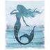 Blue Glitter Mermaid Canvas Wall Decor