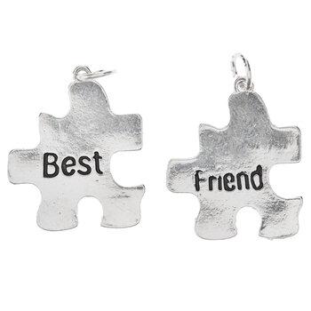 Best Friend Puzzle Piece Charms