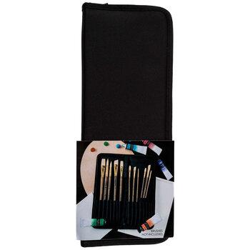 Black Paint Brush Holder