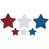 Red, White & Blue Star Foam Stickers